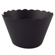Black Cupcake Wrappers x 50 Per Pack
